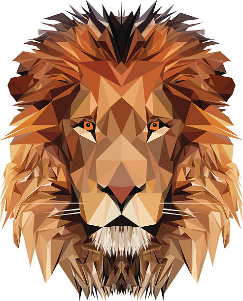 lion's head - lion stock illustrations, clip art, cartoons, & icons