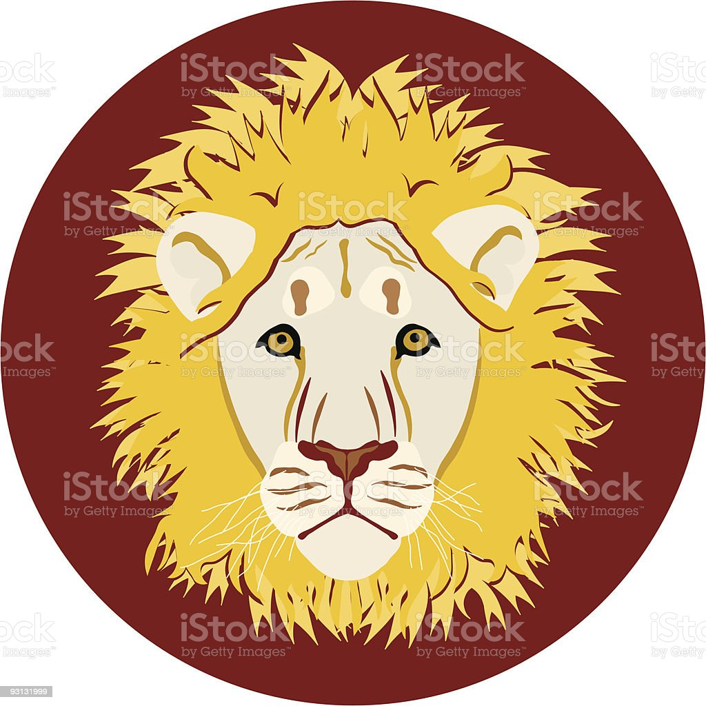 Lion's head royalty-free stock vector art
