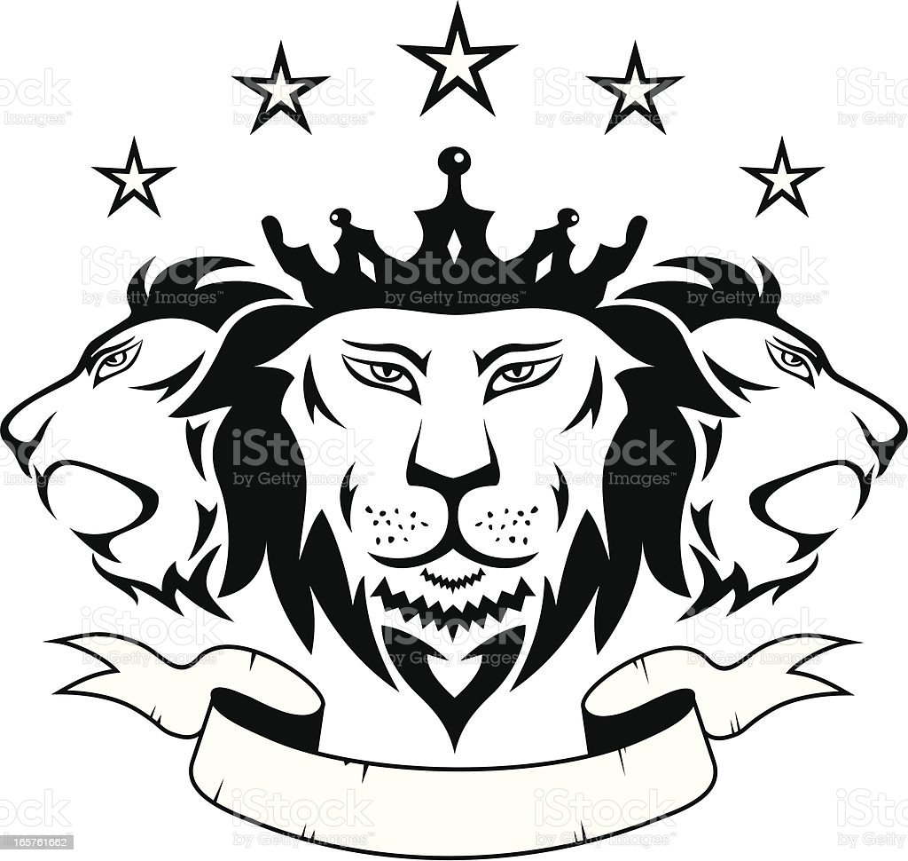 Lions Pride royalty-free stock vector art