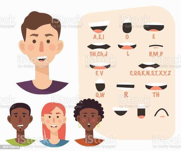 Lip sync collection for animation casual manwoman flat style vector vector id939168618?b=1&k=6&m=939168618&s=612x612&h=pbm6mnx54wps9  v96xyltrvpuququxskqp6lu9dz7i=
