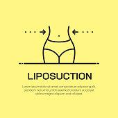 Liposuction Vector Line Icon - Simple Thin Line Icon, Premium Quality Design Element