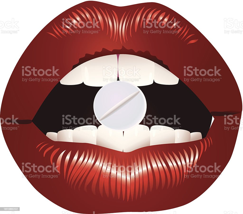 Lips and tablet. royalty-free lips and tablet stock vector art & more images of addiction