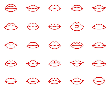 Lips collection set