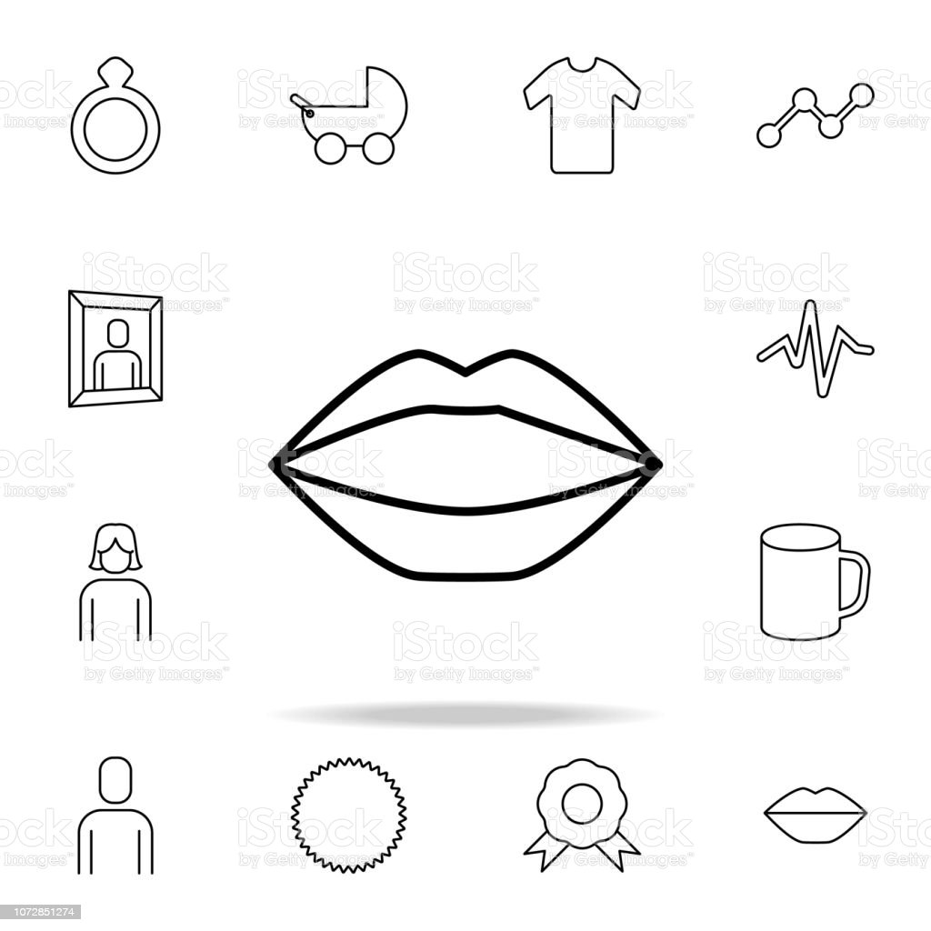 lips icon. Detailed set of simple icons. Premium graphic design. One of the collection icons for websites, web design, mobile app vector art illustration