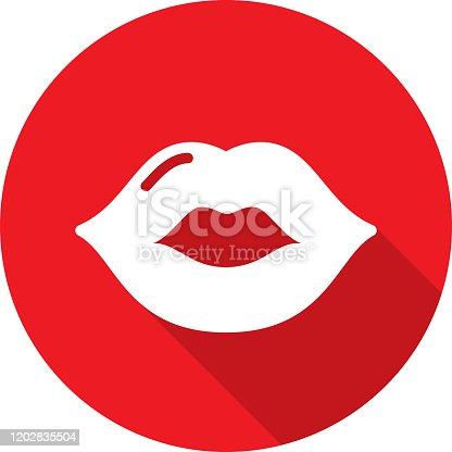 istock Lips Kiss Icon Silhouette 1202835504