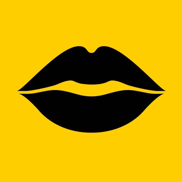 lips kiss. - usta człowieka stock illustrations