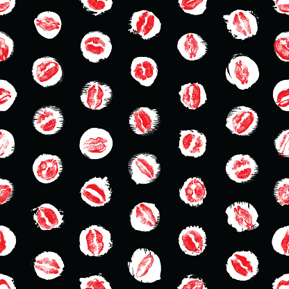 lips seamless pattern on polka dot background black and pink lips fashion print wrapping paper world kiss day valentines day love vector stock illustration download image now istock https www istockphoto com vector lips seamless pattern on polka dot background black and pink lips fashion print gm1092009288 292969677