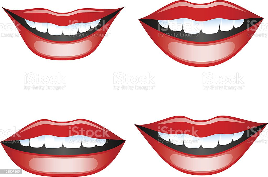 Lips set vector art illustration