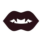 lips vampire black