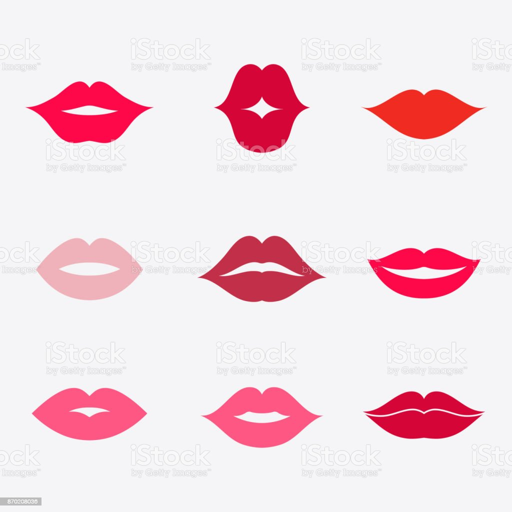 lips vector icon set stock vector art amp more images of