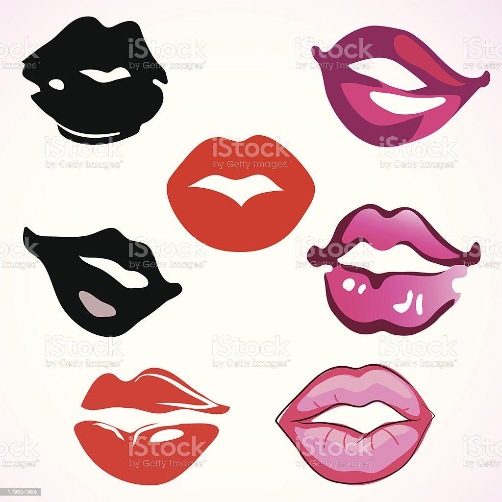 lips royalty-free stock vector art