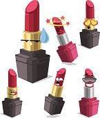Lipstick Cartoon Set A