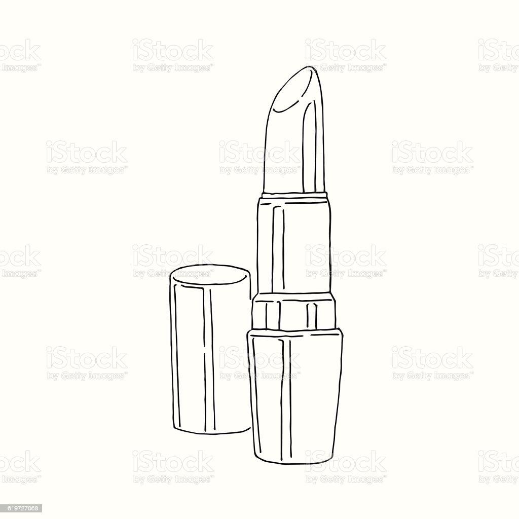 Super Rouge à Lèvres Dessin Stock Vecteur Libres de Droits 619727068  HD63