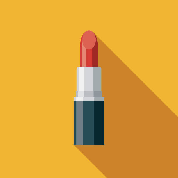 Lipstick Flat Design Prom Icon A flat design icon with a long shadow. File is built in the CMYK color space for optimal printing. Color swatches are global so it's easy to change colors across the document. lipstick stock illustrations