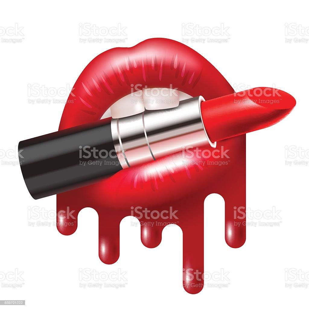 royalty free melting lipstick clip art vector images rh istockphoto com lipstick clip art black and white lipstick clipart free