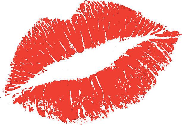lippenstiftabdruck form - kiss stock-grafiken, -clipart, -cartoons und -symbole