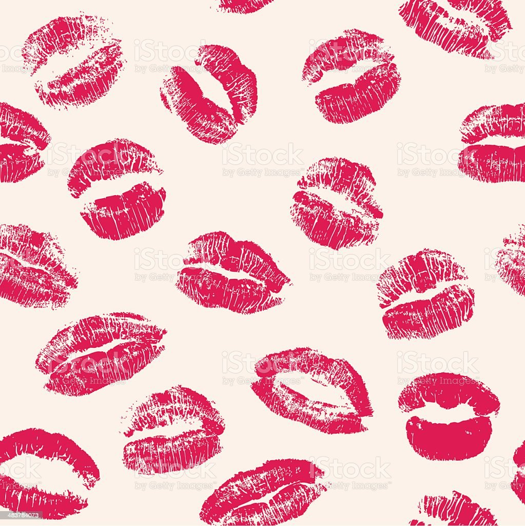 Short Sweet I Love You Quotes: Lipstick Kisses Seamless Pattern Stock Vector Art & More