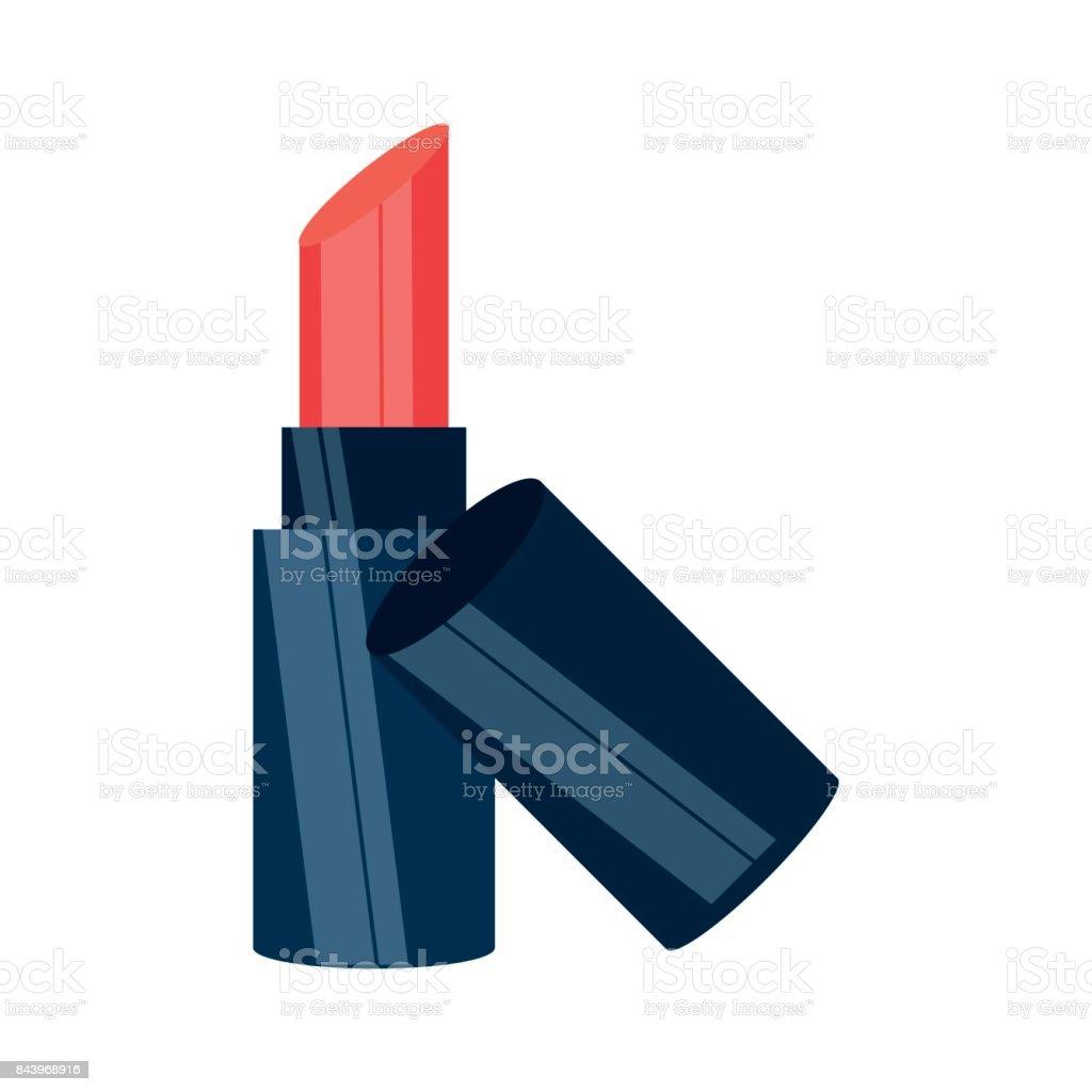 Lipstick make up vector art illustration