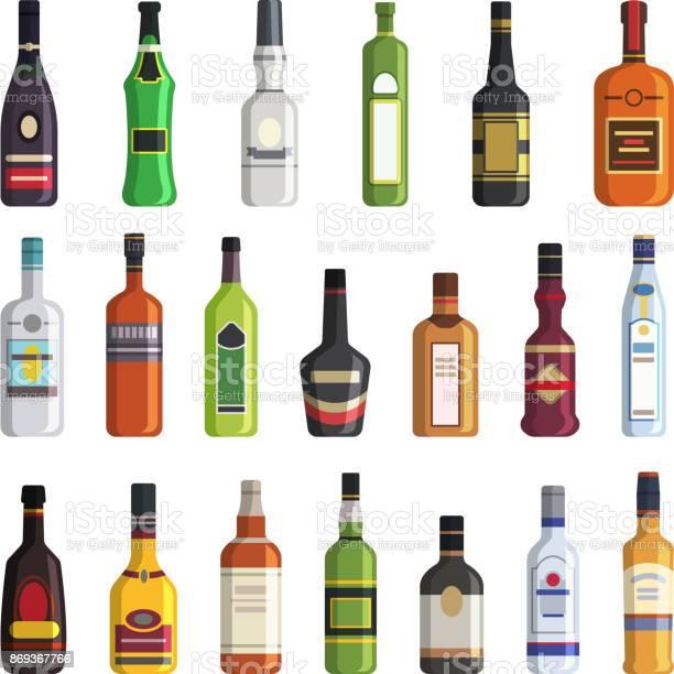 Liqueur whiskey vodka and other bottles of alcoholic drinks vector vector id869367766?b=1&k=6&m=869367766&s=612x612&h=4dj2qbf8sctjoov6 fupvl160nwdncp k zvbb edm0=