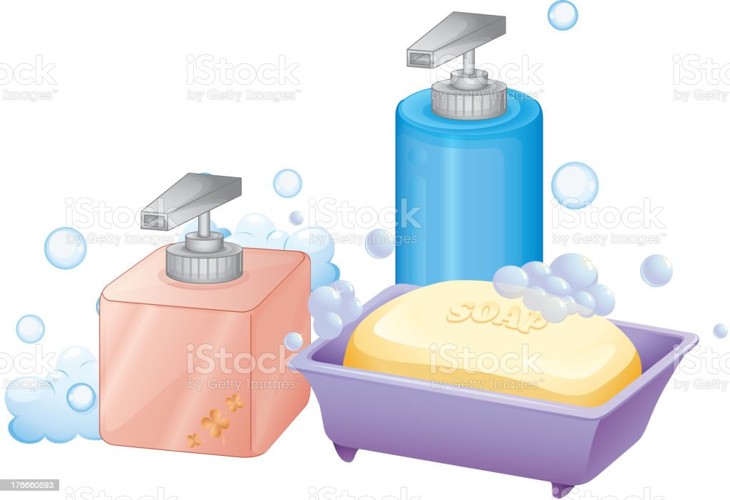 liquid and bar soap royalty-free liquid and bar soap stock vector art & more images of artist
