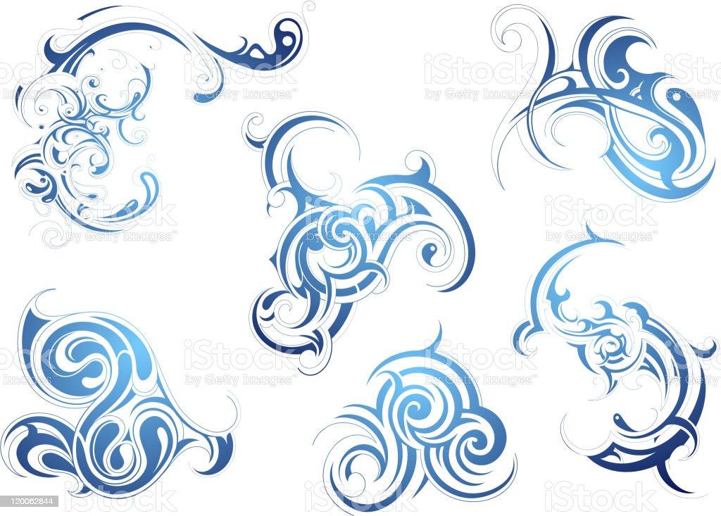 Liquid art vector art illustration