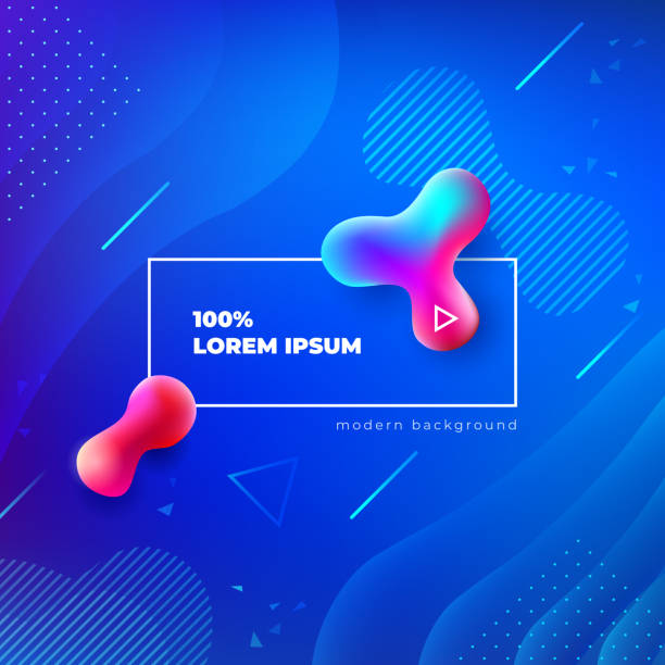liquid color background design. fluid gradient shapes composition. futuristic design posters. eps10 vector. - blue drawings stock illustrations