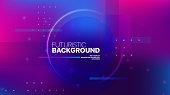 Liquid color background design. Fluid purple blue gradient shapes. Design landing page. Futuristic abstract composition. Vector Illustration