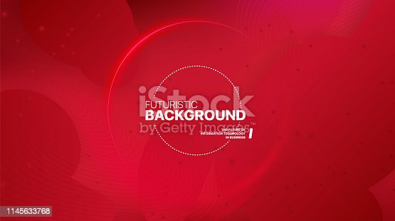 istock Liquid color background design. Fluid red gradient shapes. 1145633768