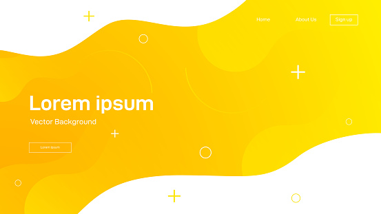 Liquid dynamic background for web sites, landing page or business presentation. Abstract geometric wallpaper. Header for social media.Trendy wavy shapes.