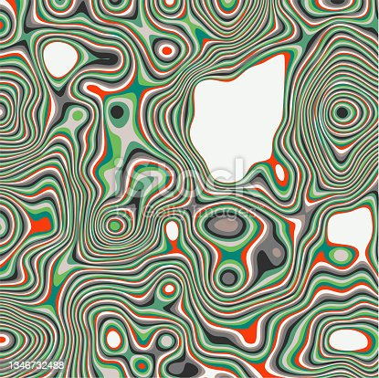 istock Liquid effects stripes pattern background 1346732488