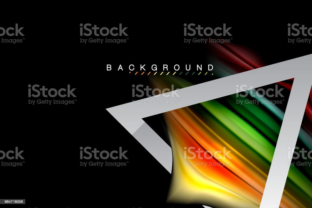 Liquid fluid colors holographic design with metallic style line shape royalty-free liquid fluid colors holographic design with metallic style line shape stock vector art & more images of abstract