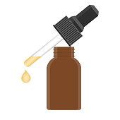 Liquid gel or serum. Isolated vector illustration on white background.