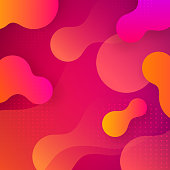 Liquid gradient shapes background. Trendy fluid design. Abstract vector background.