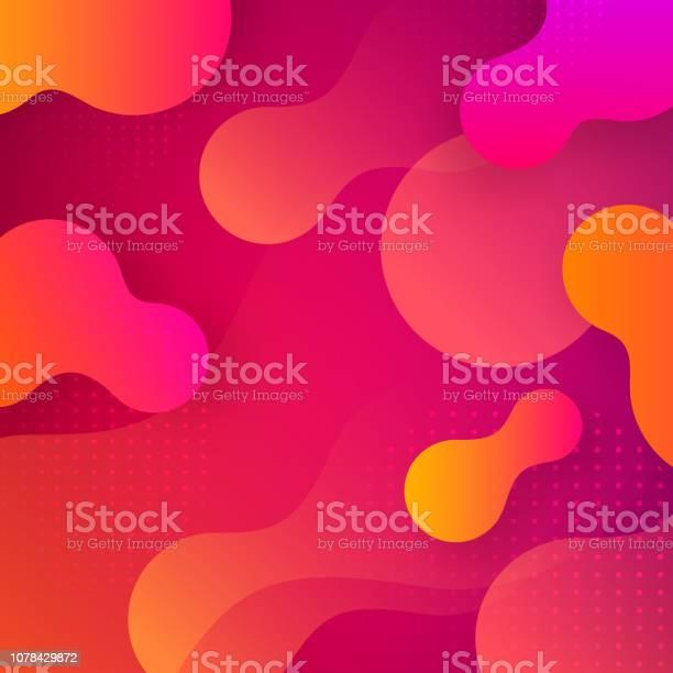 Liquid Gradient Shapes Background - Arte vetorial de stock e mais imagens de Abstrato