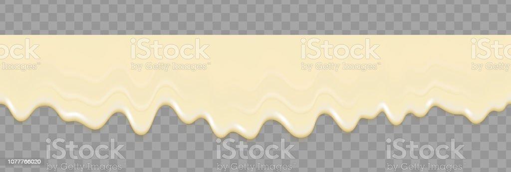 ликвидный майонез белая бесшовная текстура. Майонез реалистично повторяет текстуру, изолированную на прозрачном фоне. Крем наливание фона - Векторная графика Белый роялти-фри