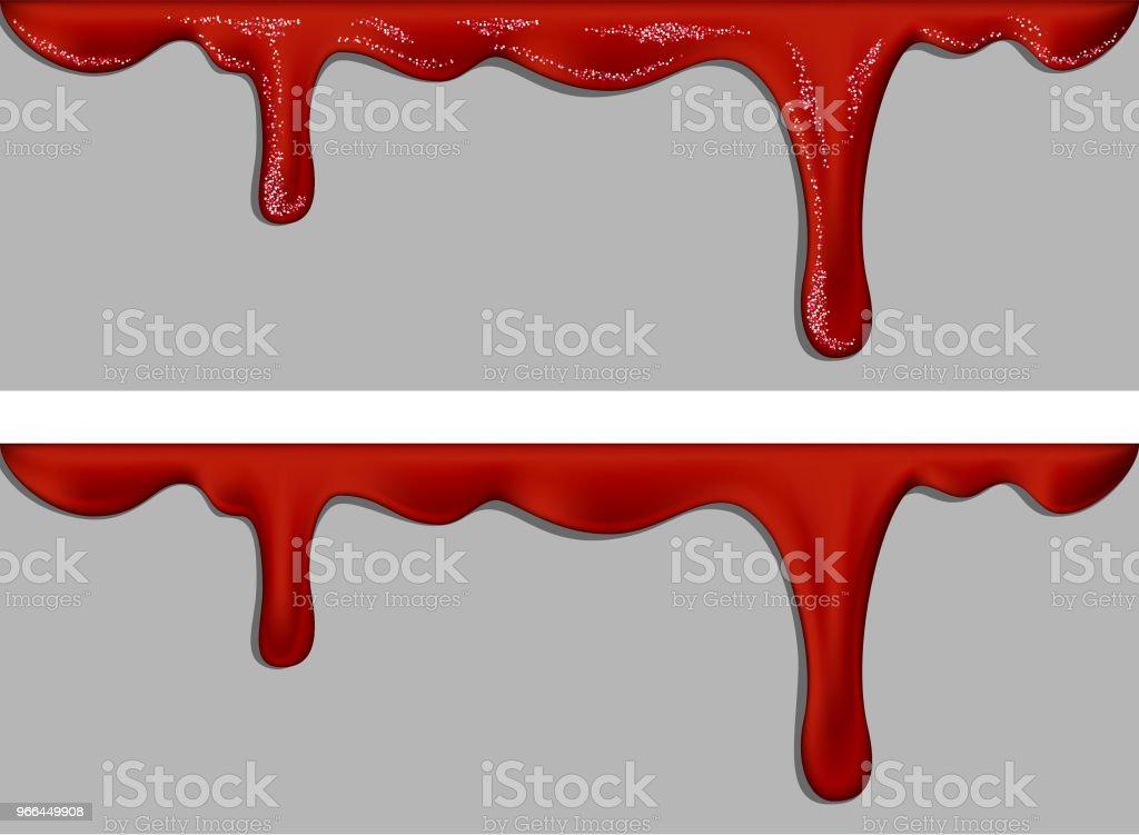Flussige Oder Fliessende Rote Farbe Flussigkeit Tropft Malen Sie