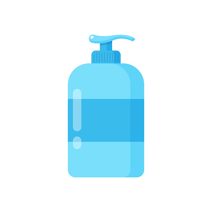 Liquid Soap and Dispenser Icon. Hand Cleaning for Soap, Disinfectant, Hygiene Concept Vector Design on White Background.