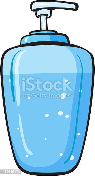 liquid soap container on a white background