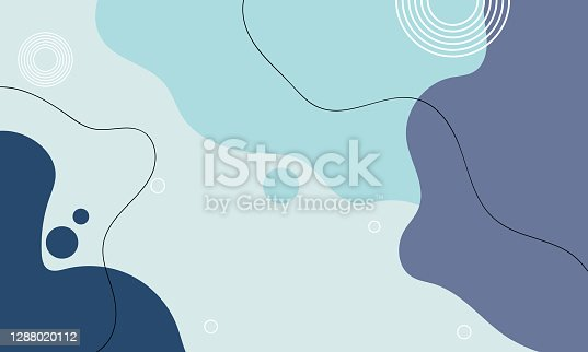 Liquid Style Colorful Pastel Abstract Background with Elements Vector.