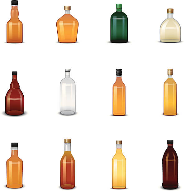 Royalty Free Whiskey Bottle Clip Art, Vector Images