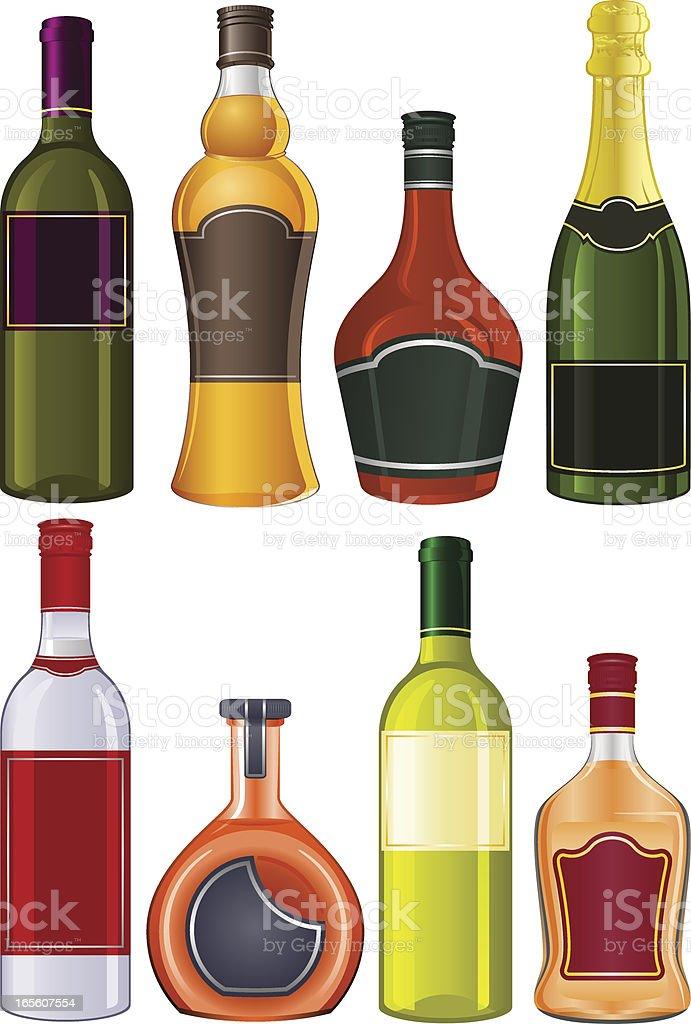 Liquor bottles stock vector art more images of alcohol for Liquor bottle art