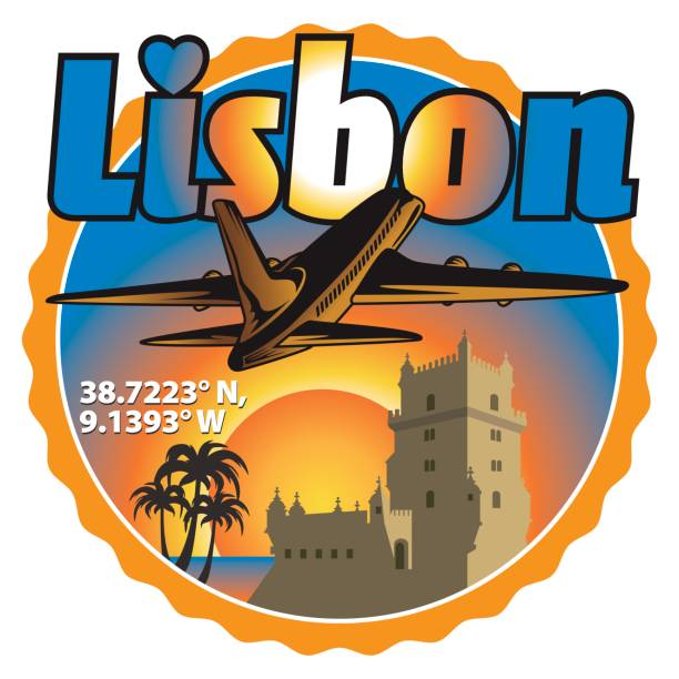 lizbona clipart travel stamp - lizbona stock illustrations