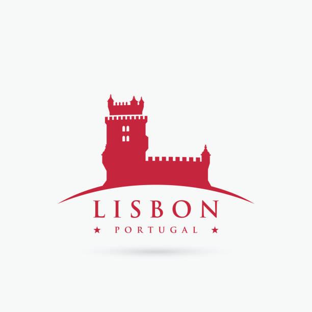 symbol lizbony - wieża belem - ilustracja wektorowa - lizbona stock illustrations