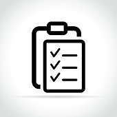 list icon on white background