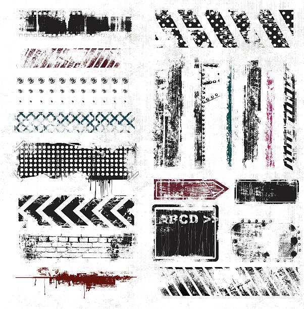 ilustrações, clipart, desenhos animados e ícones de grunge elements - textura de grafite