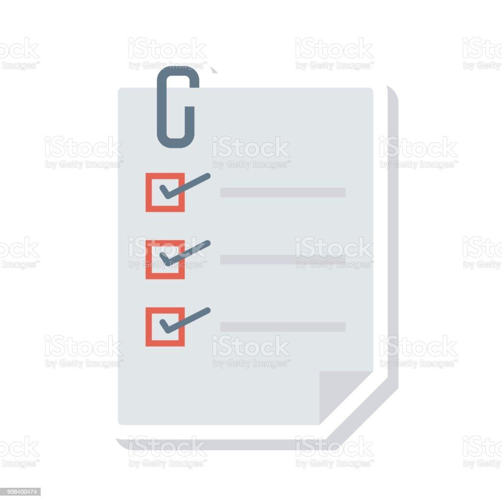 Liste des - Illustration vectorielle