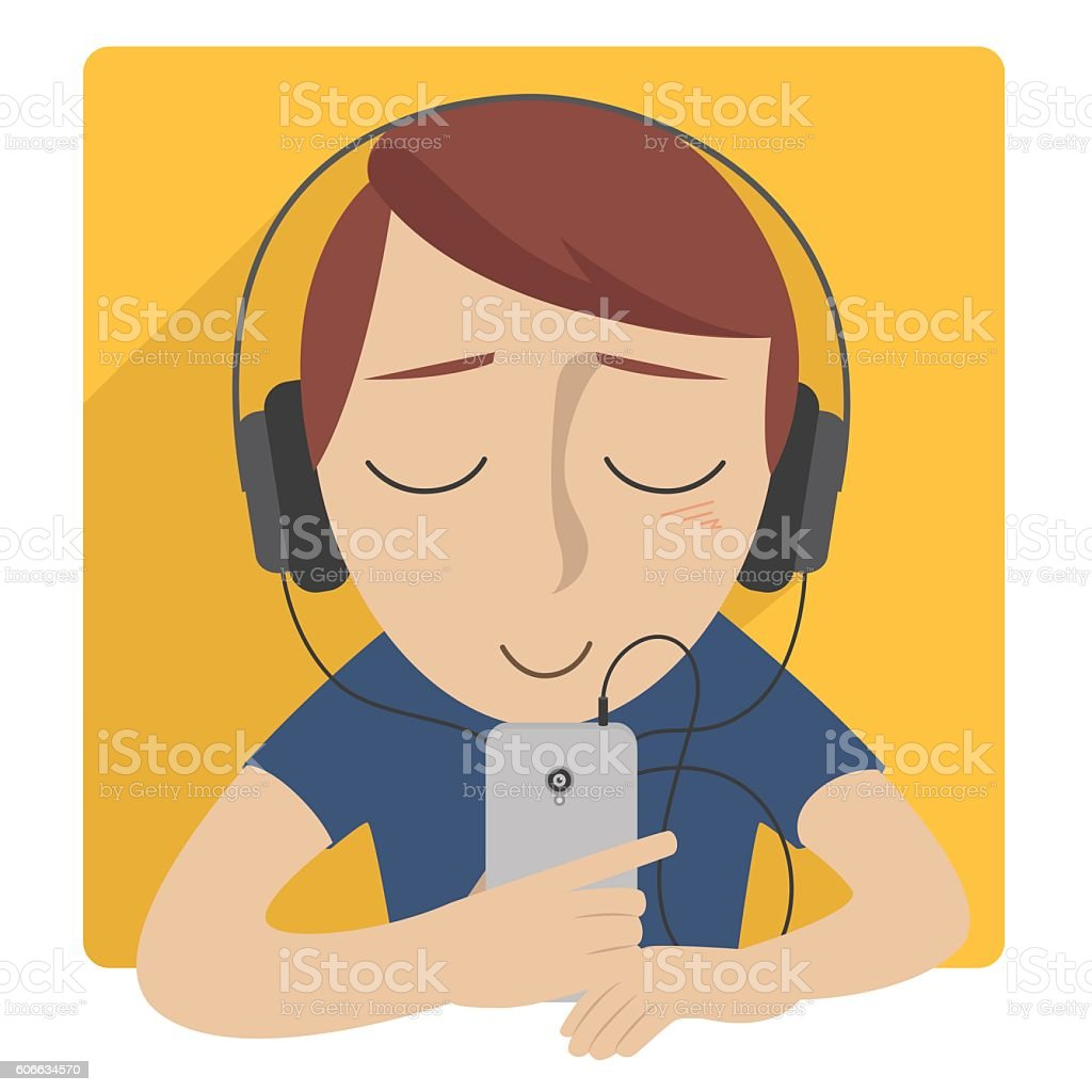 royalty free listening to music clip art vector images rh istockphoto com play music clipart