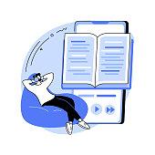 istock Listen to audiobooks abstract concept vector illustration. 1314731245