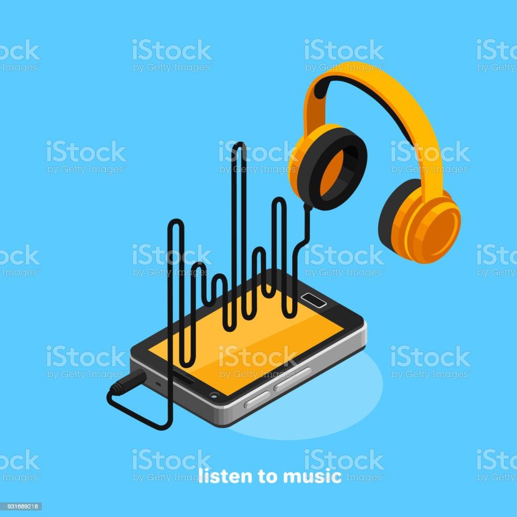 listen to music2 vector art illustration