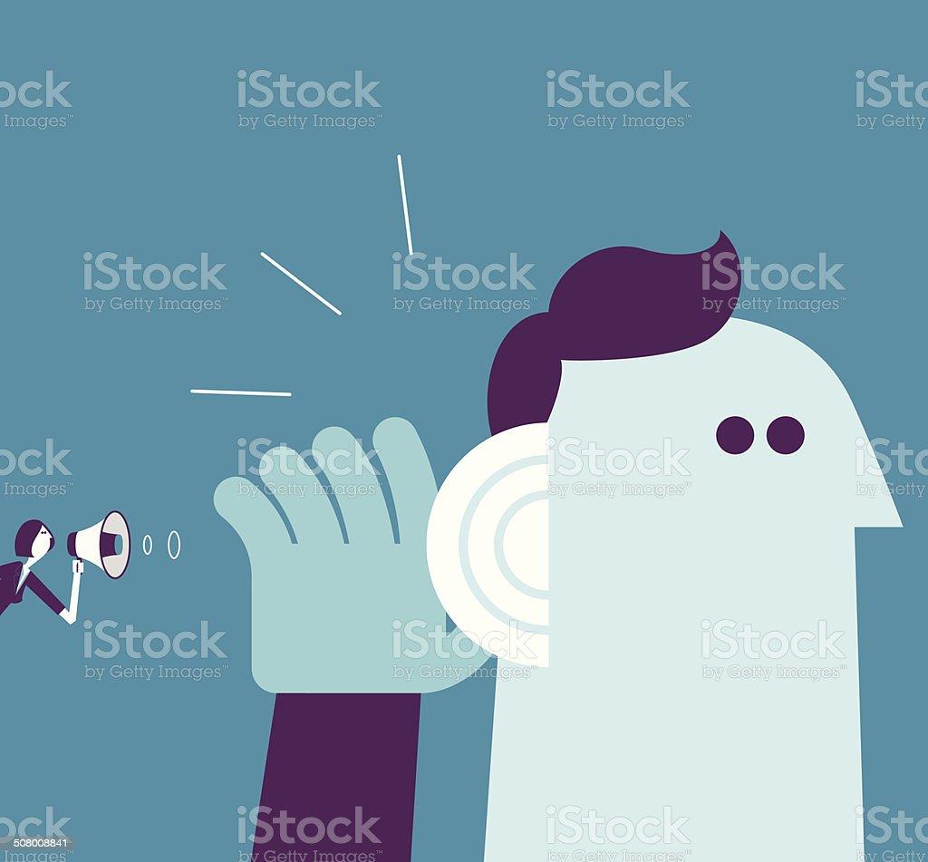 listen vector art illustration